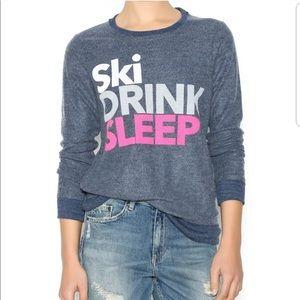 Chaser Faded Navy Ski, Drink, Sleep Sweatshirt